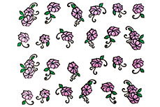 Jolifin Glitter Nailart Sticker 24