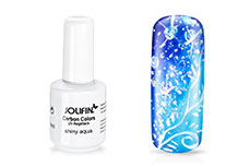 Jolifin Carbon Colors UV-Nagellack shiny aqua 14ml