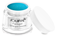 Jolifin Farbgel türkis-gold Glimmer 5ml