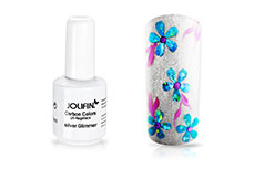 Jolifin Carbon Colors UV-Nagellack silver Glimmer 14ml