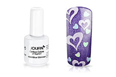 Jolifin Carbon Colors UV-Nagellack violetblue Glimmer 14ml