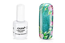 Jolifin Carbon Colors UV-Nagellack smaragd Glimmer 14ml