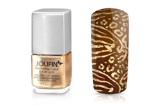 Jolifin Stamping-Lack glitzer gold