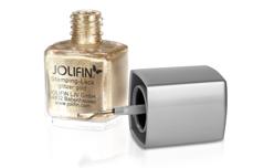 Jolifin Stamping-Lack - glitzer gold 12ml