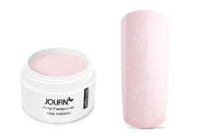 Jolifin Acryl Farbpulver - rosy metallic 5g