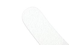 Jolifin Slim-Feile 80/80 weiß gebogen