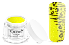 Jolifin Farbgel neon-yellow Glitter 5ml