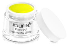 Jolifin Farbgel neon-yellow Glitter 5ml