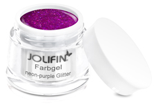 Jolifin Farbgel neon-purple Glitter 5ml