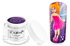 Jolifin Farbgel violet fairy dust 5ml