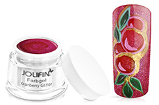 Jolifin Farbgel cranberry Glitter 5ml