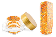 Jolifin Illusion Glitter I Neon Orange