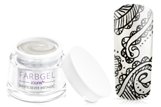 Jolifin Farbgel white-silver metallic 5ml