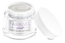 Jolifin Farbgel white-silver metallic 5ml