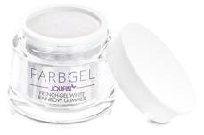 Jolifin Farbgel French-Gel white rainbow Glimmer 5ml