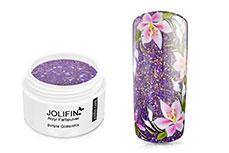 Jolifin Acryl Farbpulver - purple Glittermix 5g