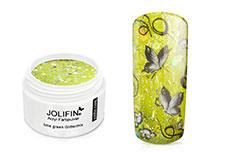 Jolifin Acryl Farbpulver Lime Green Glittermix 5g