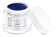 Jolifin Wetlook Farbgel 4plus shiny blue 5ml