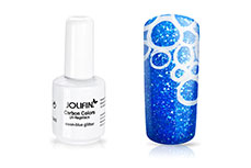 Jolifin Carbon Colors UV-Nagellack neon-blue Glitter 14ml