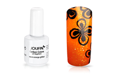 Jolifin Carbon Colors UV-Nagellack neon-orange Glitter 14ml
