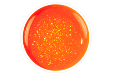 Jolifin Carbon Quick-Farbgel - neon-orange Glitter 11ml