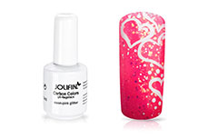 Jolifin Carbon Quick-Farbgel - neon-pink Glitter 11ml