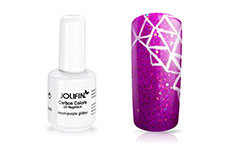 Jolifin Carbon Quick-Farbgel - neon-purple Glitter 11ml