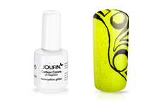 B-Ware Jolifin Carbon Quick-Farbgel - neon-yellow Glitter 14ml