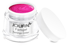 Jolifin Farbgel flamingo Glitter 5ml