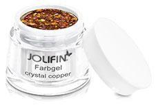 Jolifin Farbgel crystal copper 5ml
