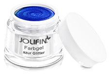 Jolifin Farbgel azur Glitter 5ml