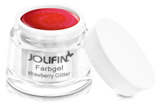 Jolifin Farbgel strawberry Glitter 5ml
