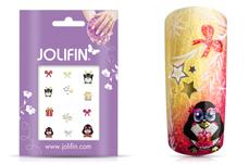 Jolifin Weihnachts Glitter Sticker 4