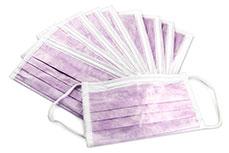10 Staubmasken lila latexfrei