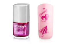 Jolifin Stamping-Lack - fuchsia glitter 12ml