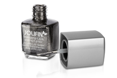 Jolifin Stamping-Lack - anthrazit glitter 12ml