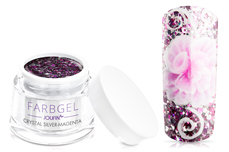 Jolifin Farbgel crystal silver-magenta 5ml