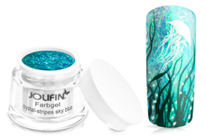 Jolifin Farbgel crystal-stripes sky blue 5ml
