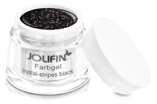 Jolifin Farbgel crystal-stripes black 5ml