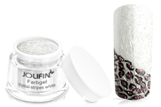 Jolifin Farbgel crystal-stripes white 5ml