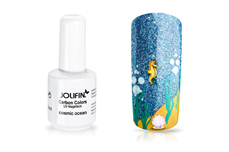 Jolifin Carbon Colors UV-Nagellack cosmic ocean 14ml