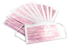 Mundschutz 10 Stück pink latexfrei
