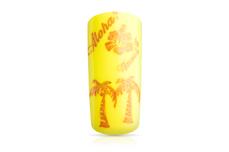 Jolifin Stamping-Lack - orange Glitter 12ml