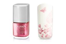 Jolifin Stamping-Lack - raspberry Glitter 12ml