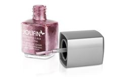 Jolifin Stamping-Lack - plum Glitter 12ml
