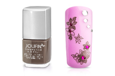 Jolifin Stamping-Lack - nude brown 12ml