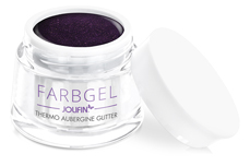 Jolifin Thermo Farbgel aubergine Glitter 5ml