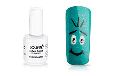 Jolifin Carbon Colors UV-Nagellack tropical water 14ml
