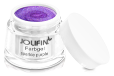 Jolifin Farbgel sparkle purple 5ml