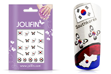 Jolifin Fussball Tattoo - Southkorea